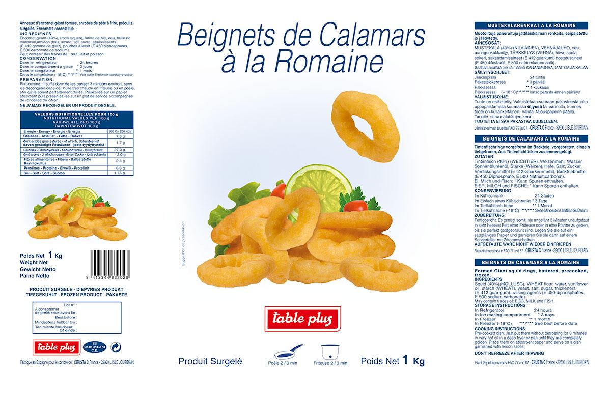 Sachet Calamars